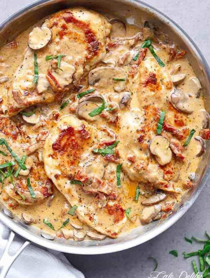Creamy Sun Dried Tomato Parmesan Chicken (No Cream)