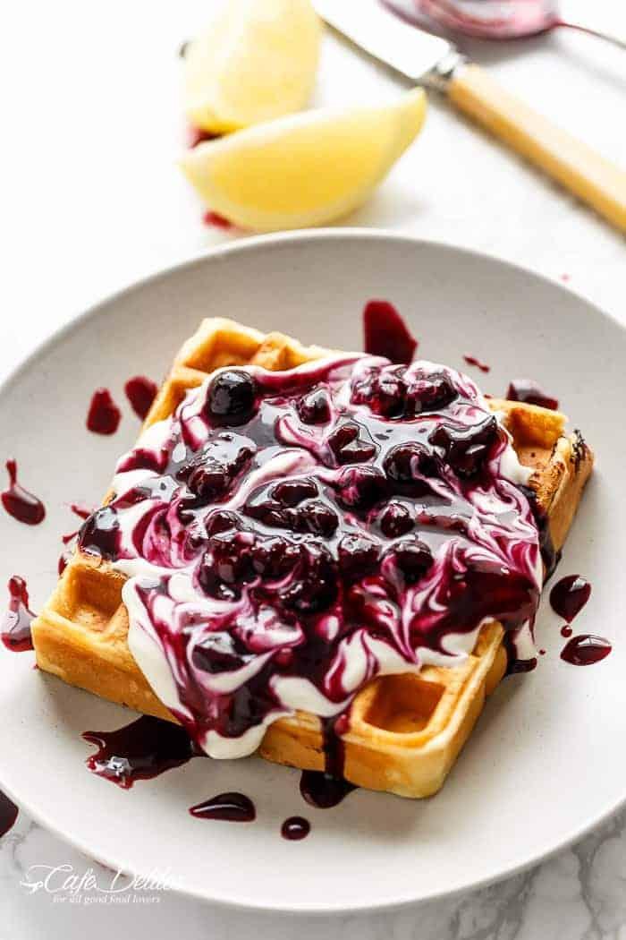 Lemon Cream Pie Waffles Recipe — Dishmaps