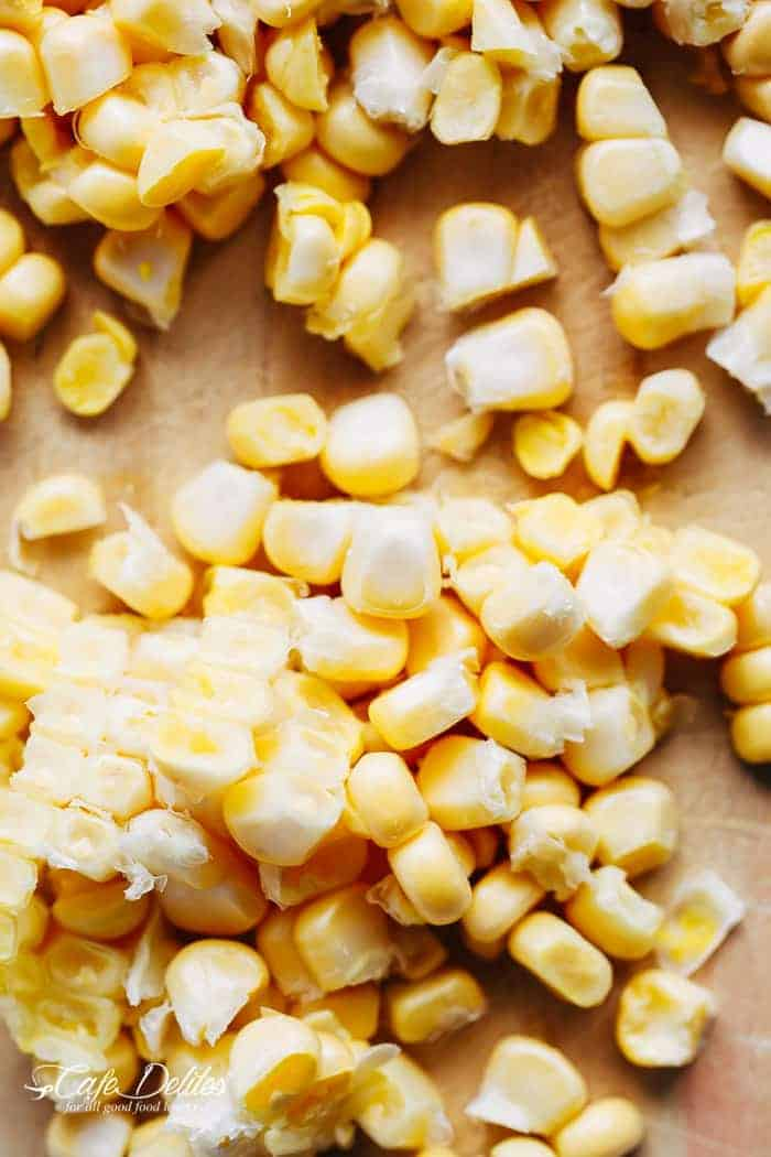 Slow Cooker Chicken Potato Corn Chowder | https://cafedelites.com