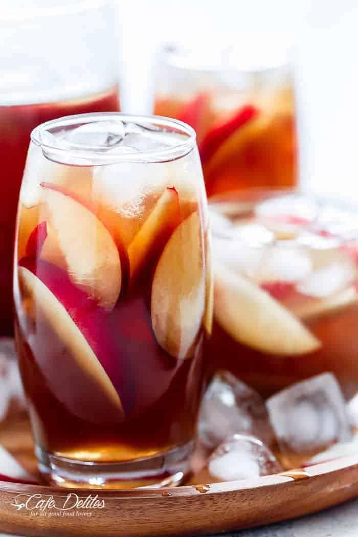 White Peach Ice Tea | https://cafedelites.com