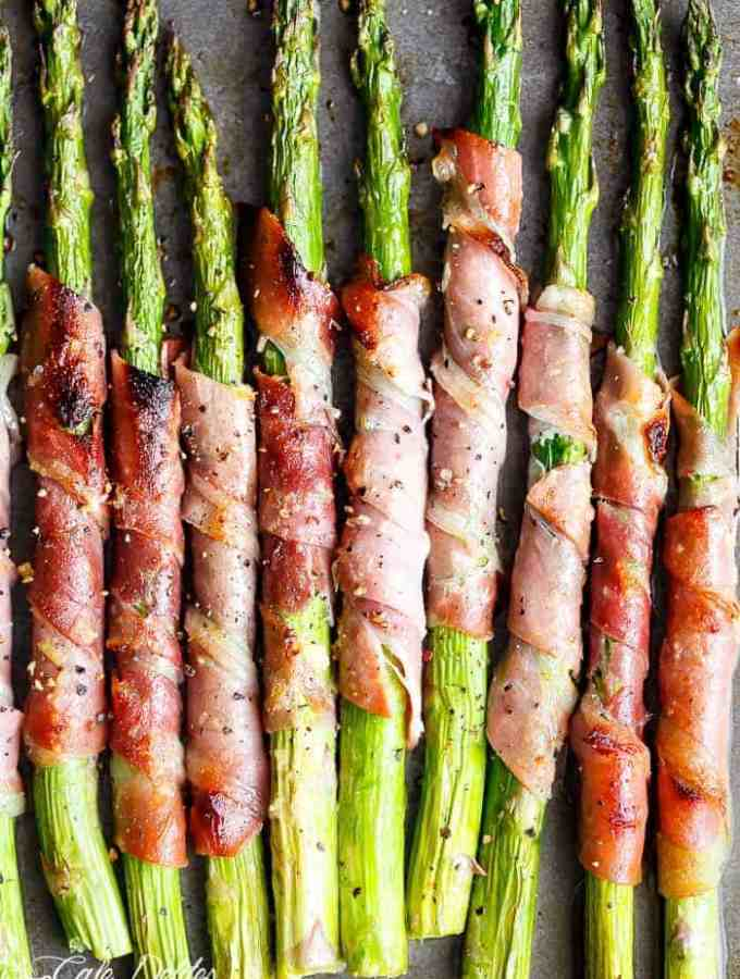 Garlic Butter Prosciutto Wrapped Asparagus