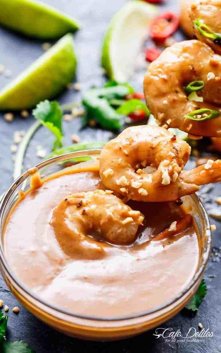 Satay Shrimp Skewers
