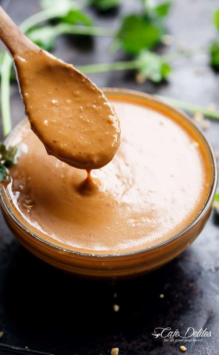 Easy Satay Dipping Sauce | http://cafedelites.com