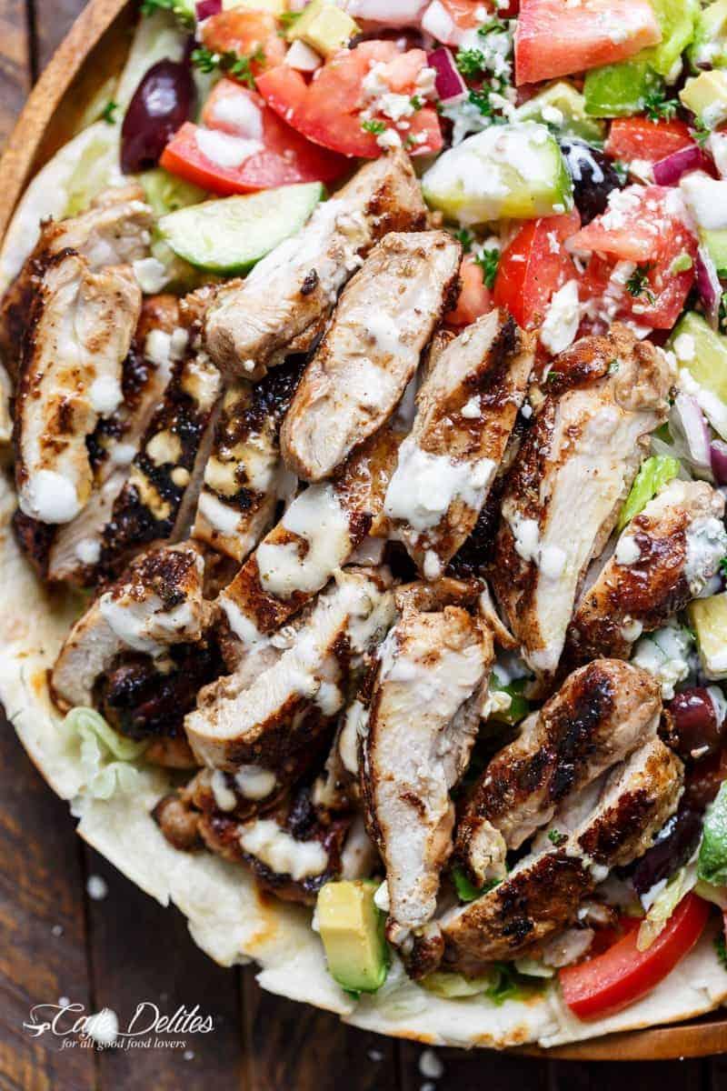 Chicken Shawarma Salad   http://cafedelites.com
