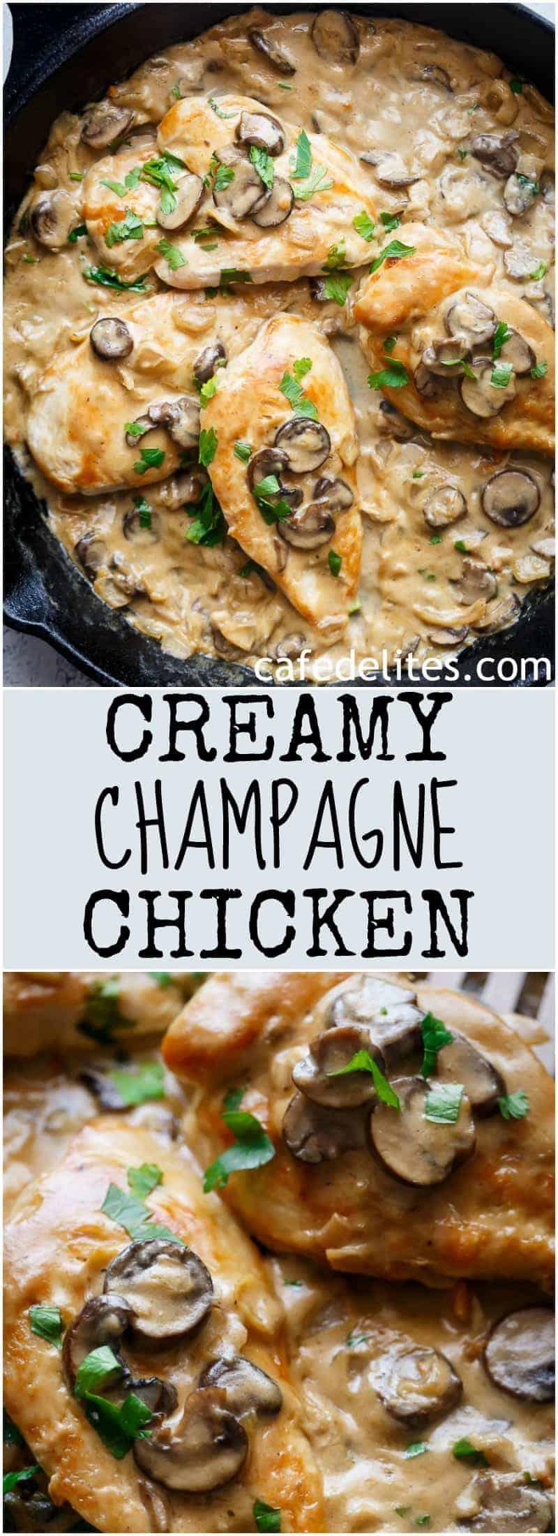 Creamy Champagne Chicken   https://cafedelites.com
