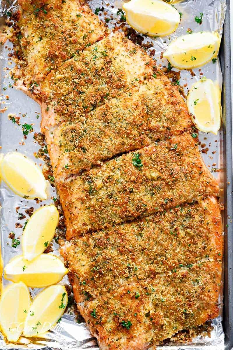 Crispy Garlic Parmesan Salmon Cafe Delites