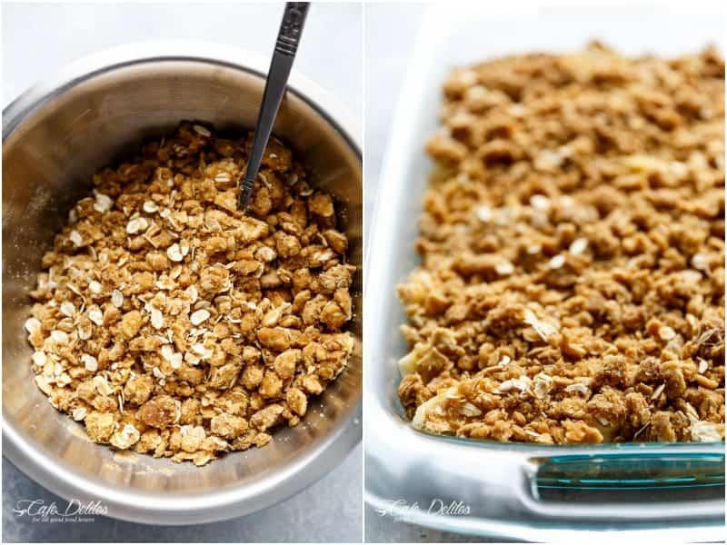 Easy Cinnamon Apple Crisp (Apple Crumble)   https://cafedelites.com