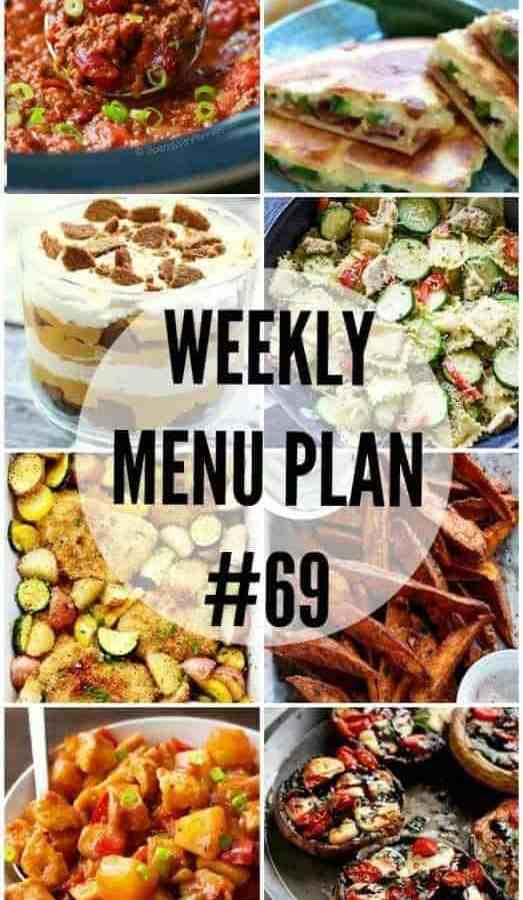 Weekly Menu Plan 69
