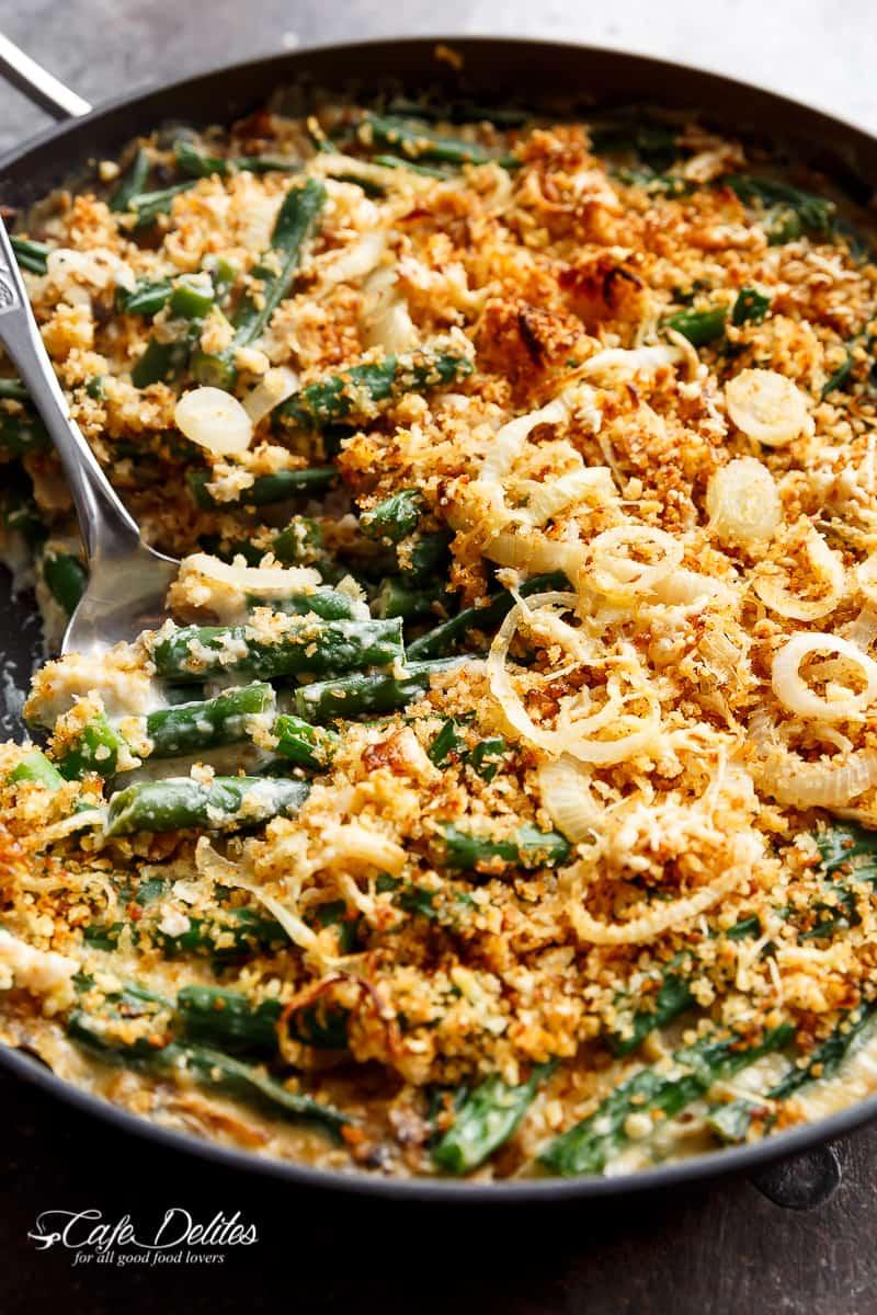 Stove Top Green Bean Parmesan Casserole | http://cafedelites.com