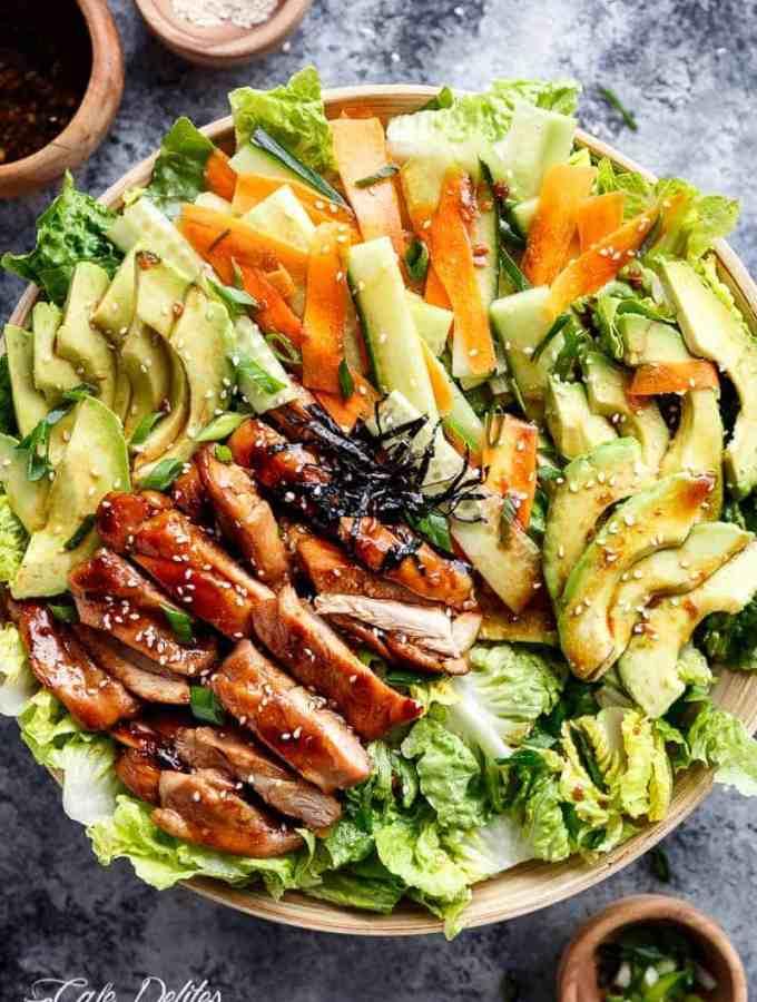 Teriyaki Glazed Chicken Salad