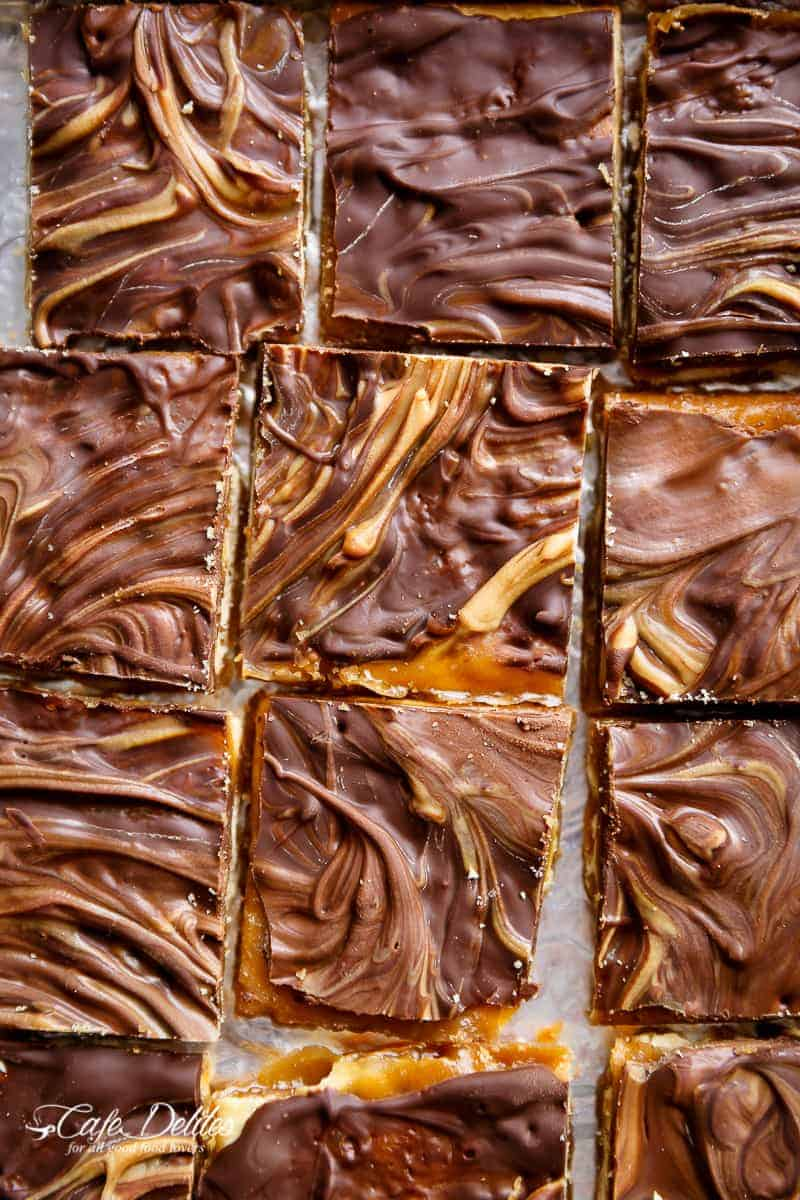 peanut butter swirl saltine toffee christmas crack is all of your christmas dreams come