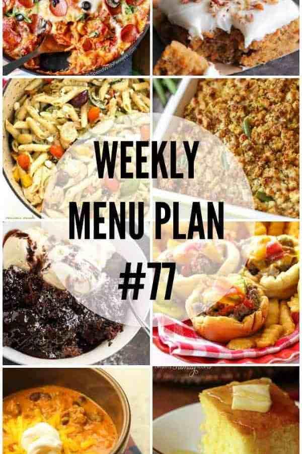 Weekly Menu Plan 77