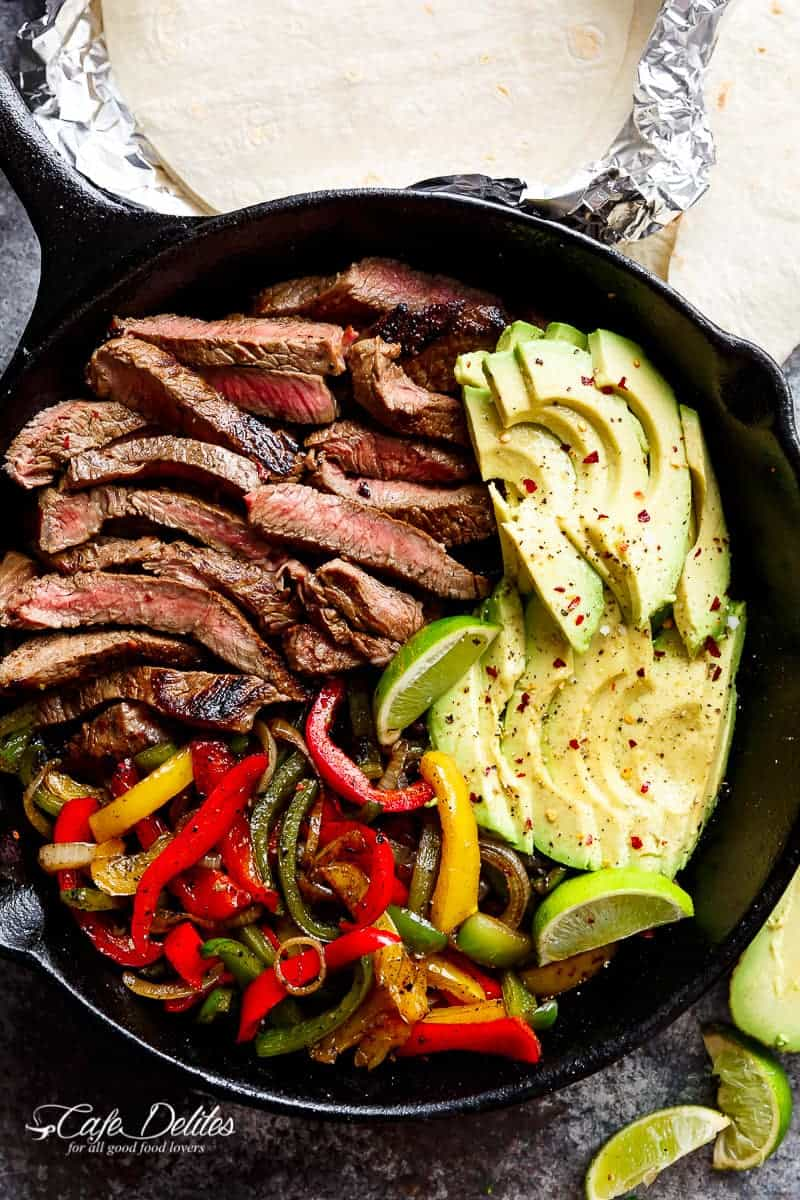 Chili Lime Steak Fajitas recipe