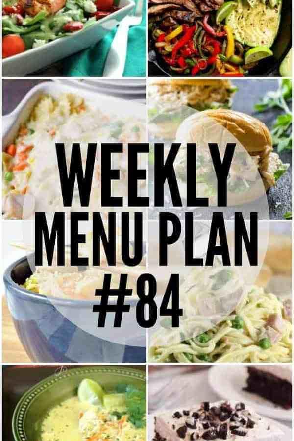 Weekly Menu Plan 84