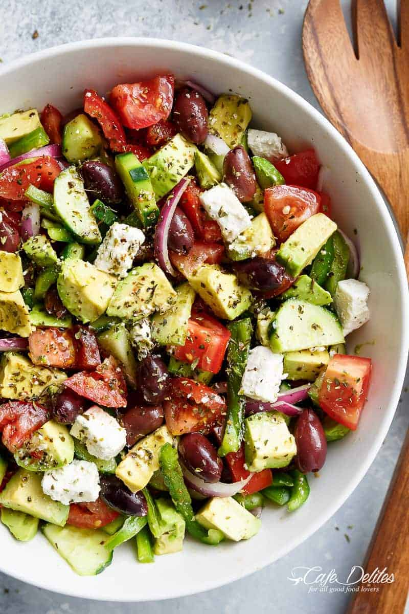 Avocado Greek Salad Amp Greek Salad Dressing