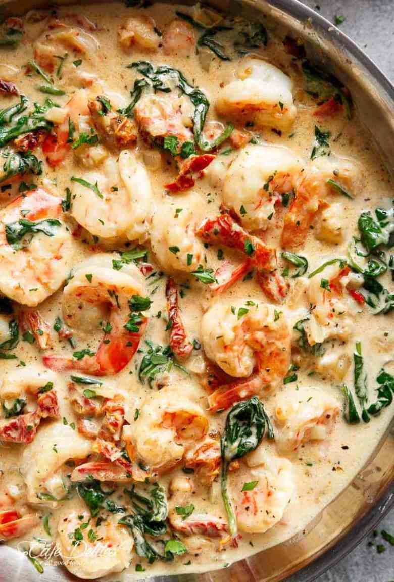 Creamy Garlic Butter Tuscan Shrimp (+ VIDEO)