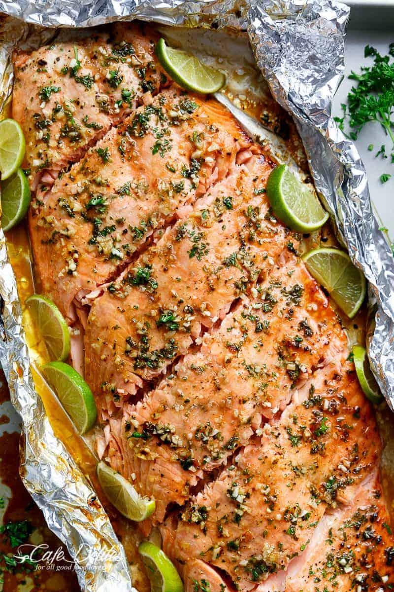 Honey Lime Garlic Butter Salmon