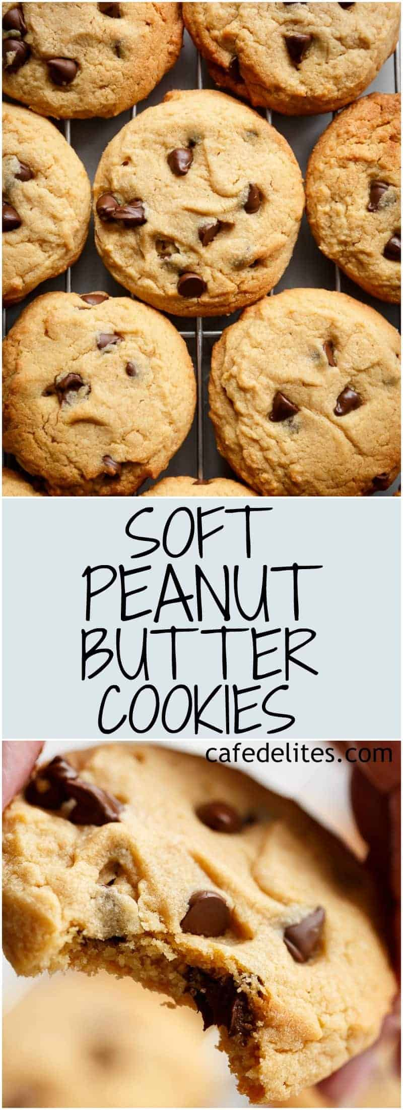Soft Peanut Butter Cookies are crispy on the outside, soft and chewy on the inside, and ready in 15 minutes! NO CHILL TIME REQUIRED! YEARS to PERFECT! | https://cafedelites.com