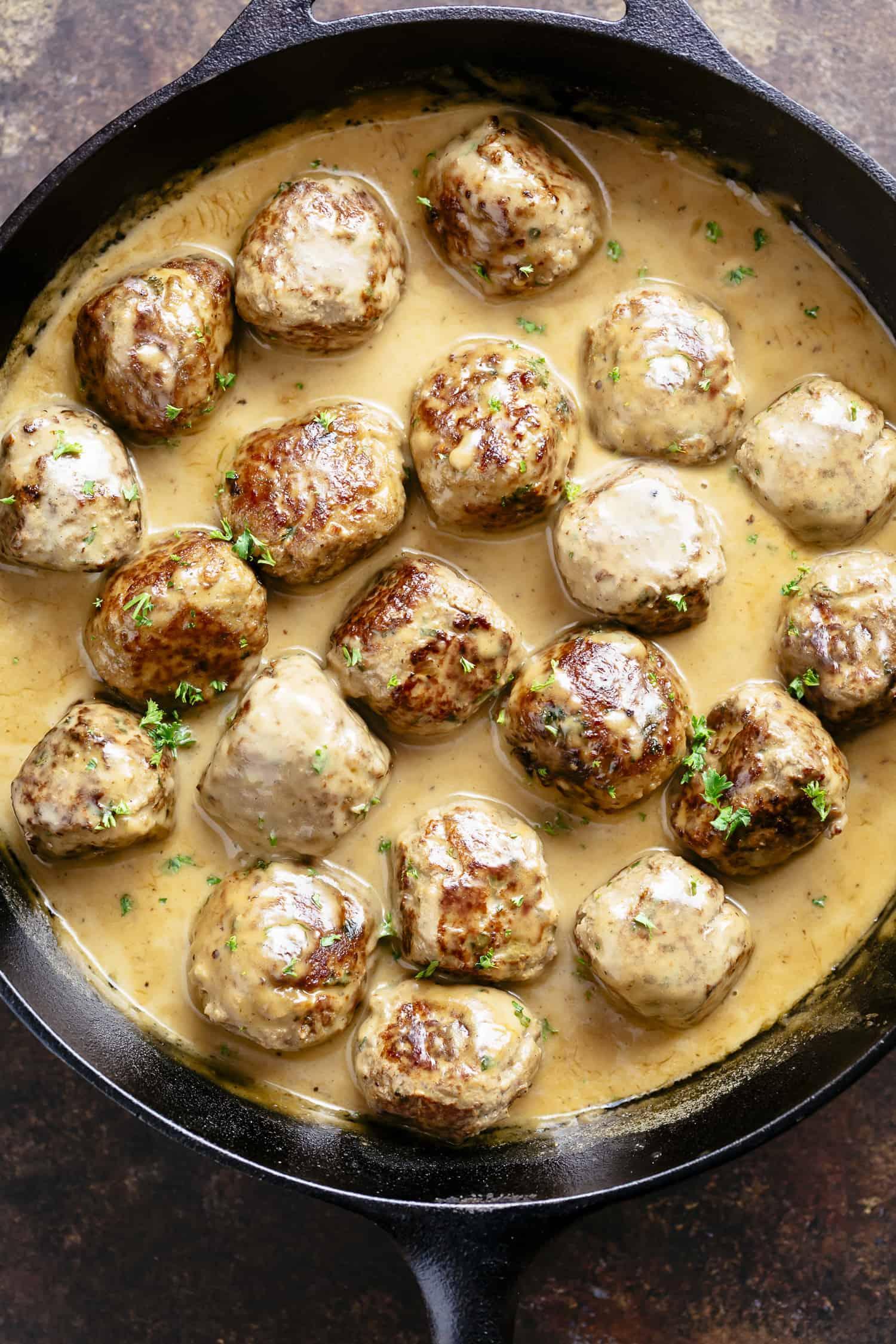 Swedish meatballs: recipe