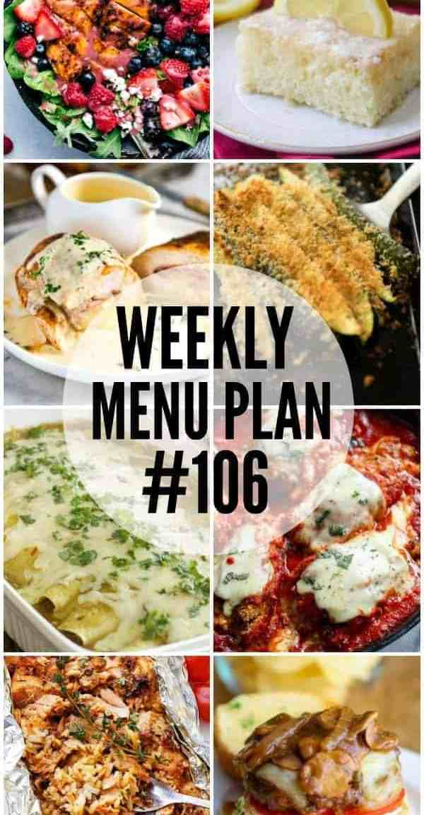 Weekly Menu Plan #106