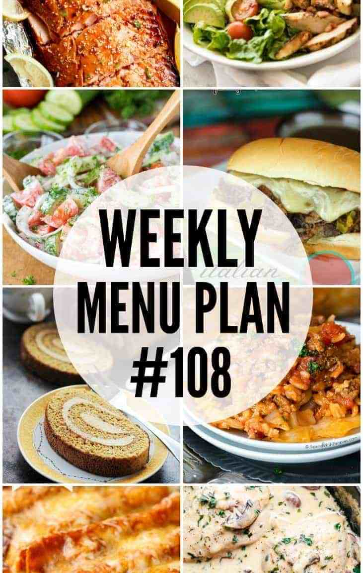 Weekly Menu Plan #108