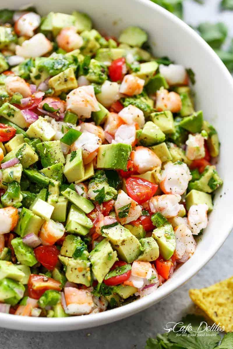 Avocado Shrimp Salad | cafedelites.com