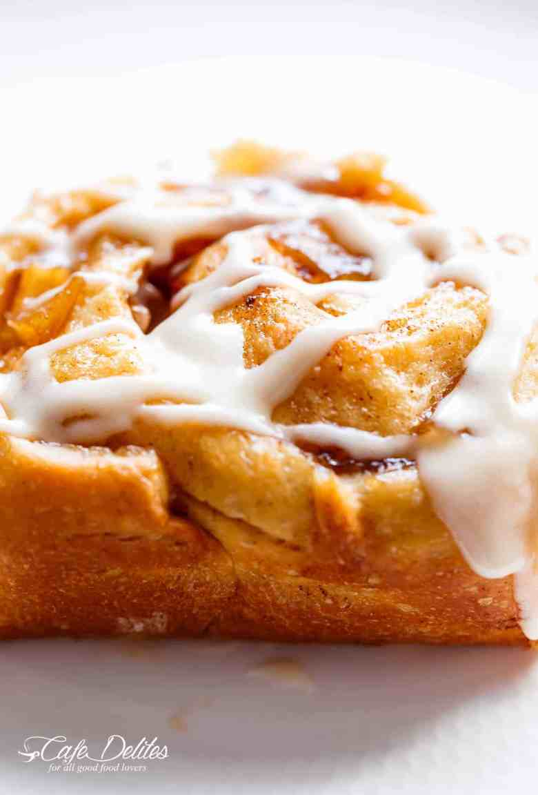 Apple Pie Cinnamon Rolls With Cream Cheese Frosting