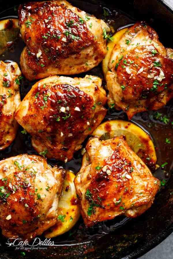 Browned Butter Honey Garlic Chicken | CAFEDELITES.COM