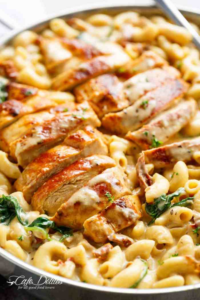 21 best recipes 2017 cafe delites tuscan chicken mac and cheese is a one pot dinner made on the stove top forumfinder Gallery
