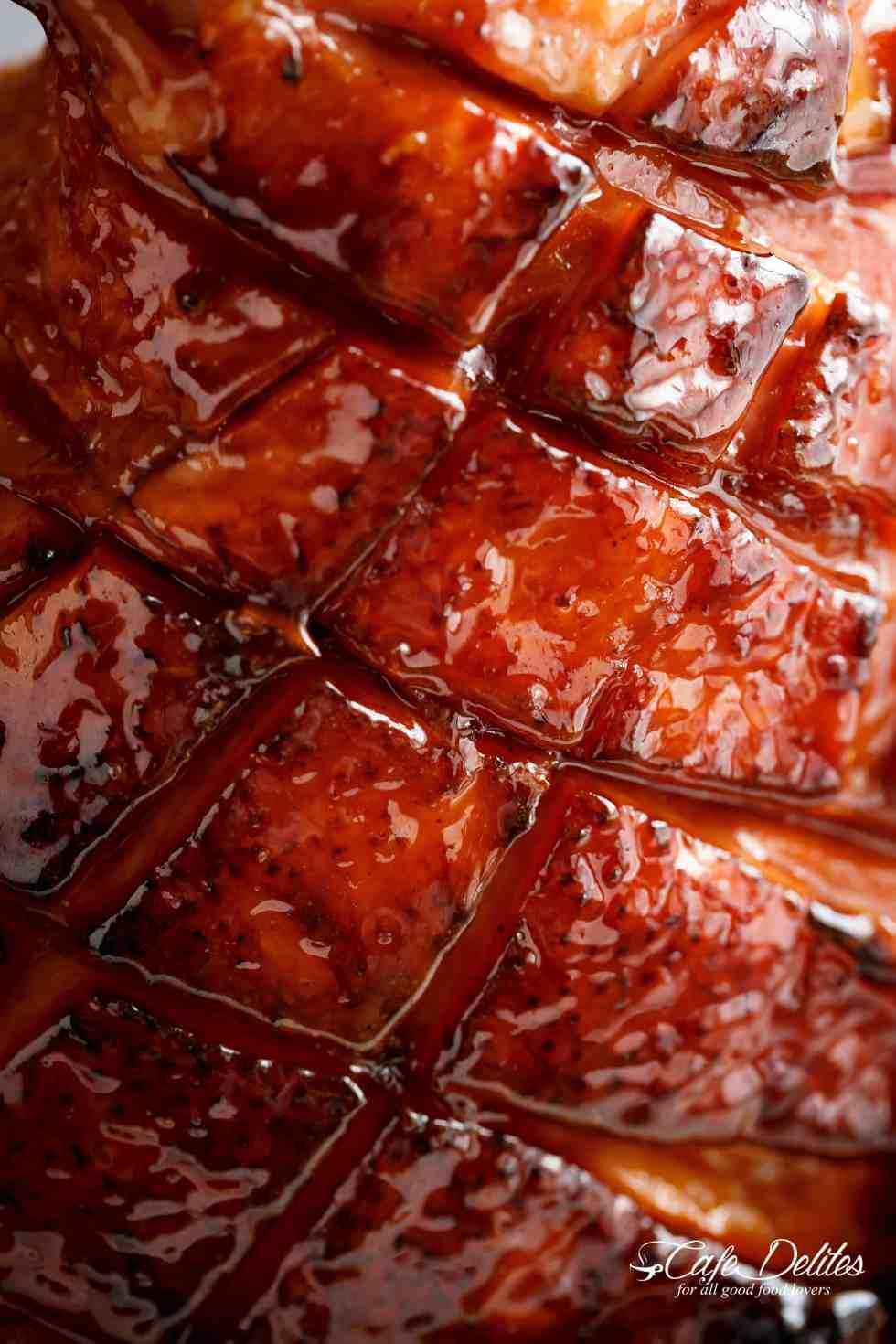 Brown Sugar Mustard Glazed Ham Recipe Cafe Delites
