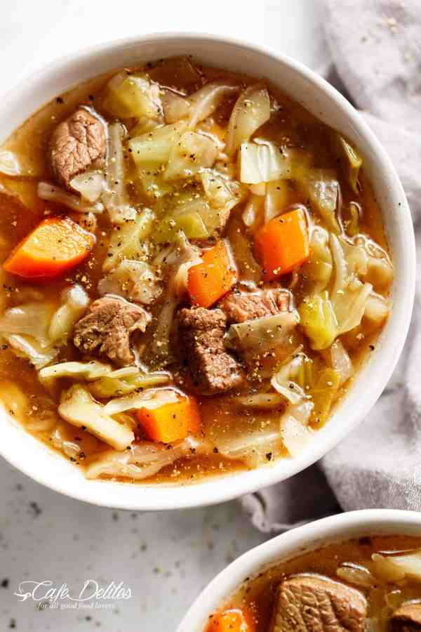 Beef Cabbage Soup | cafedelites.com