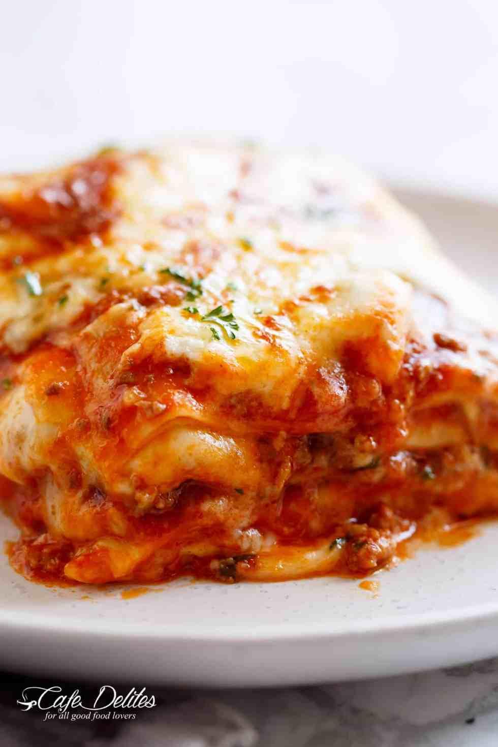 Lasagna layers | cafedelites.com