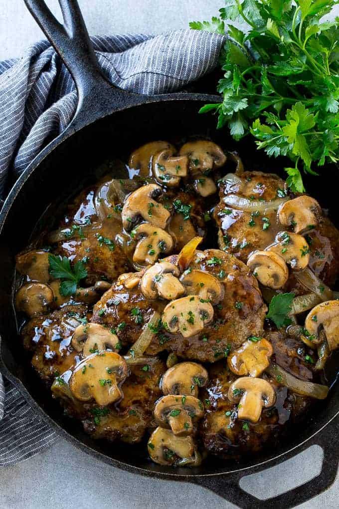 Salisbury steak is an easy dinner option that's classic comfort food.