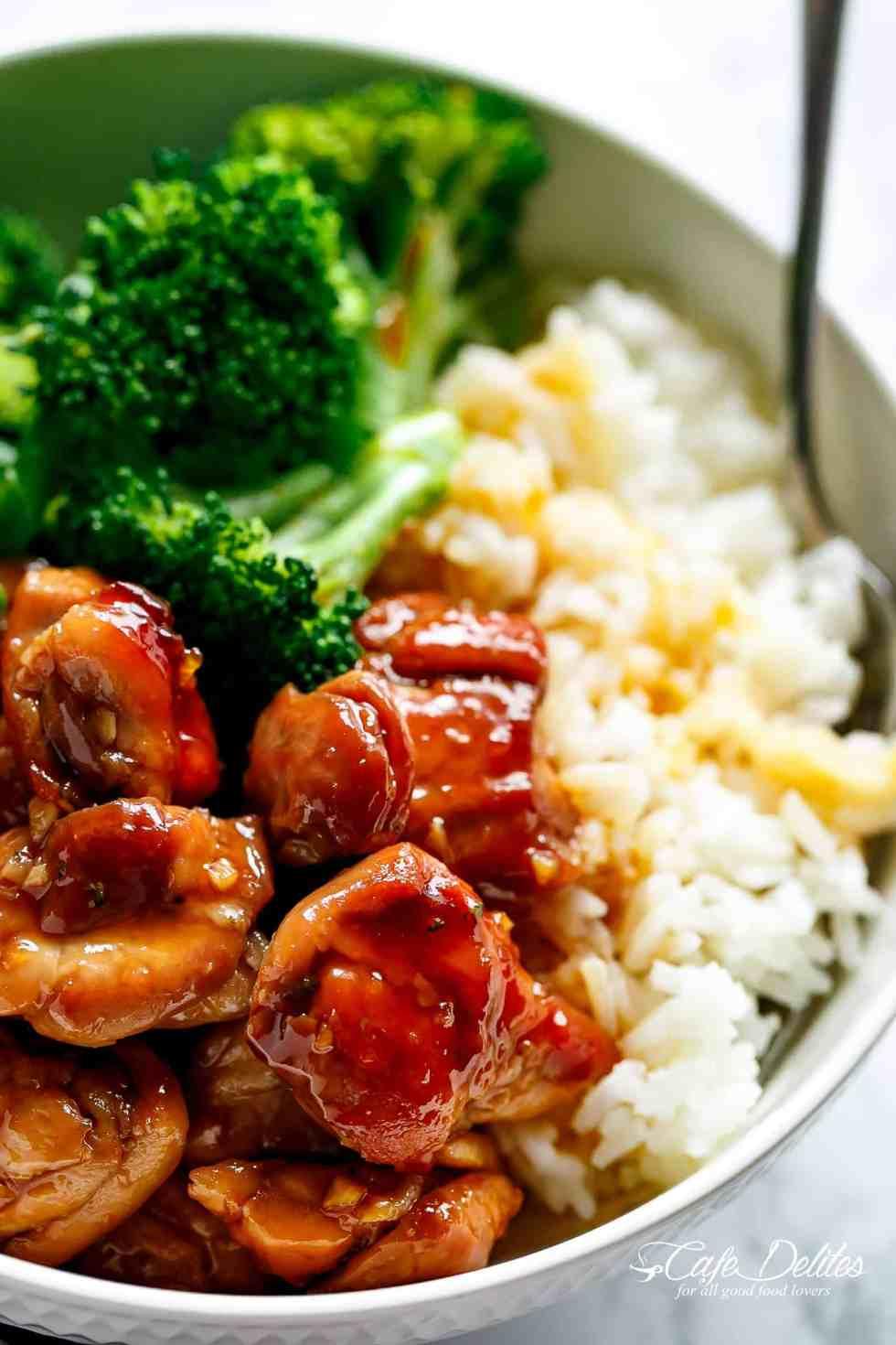 Teriyaki Chicken | cafedelites.com