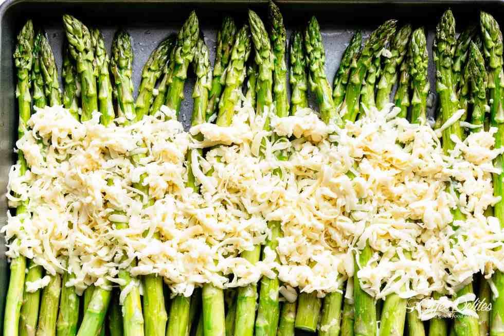 Roast Asparagus with cheese! | cafedelites.com