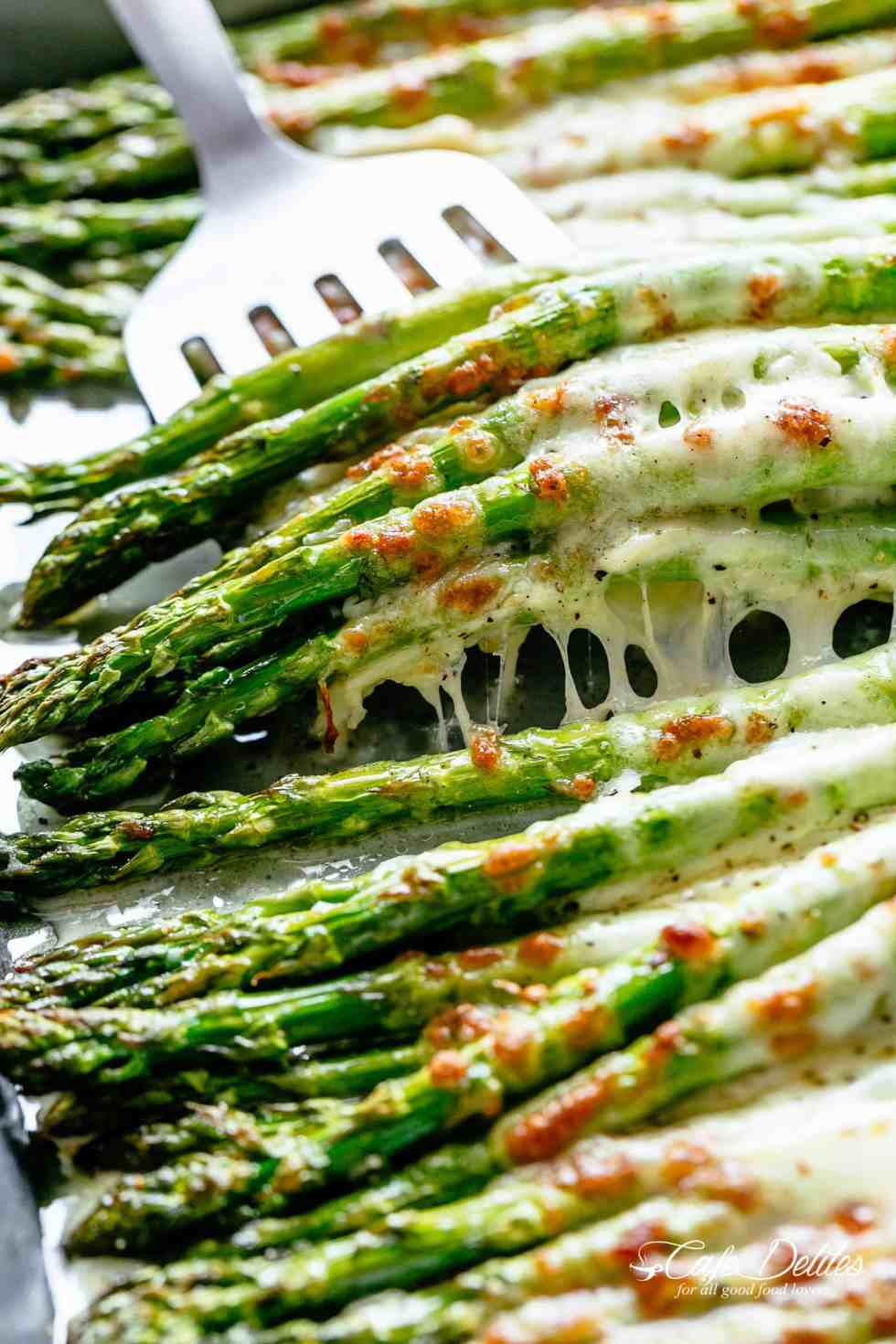 Cheesy Garlic Roasted Asparagus Cafe Delites