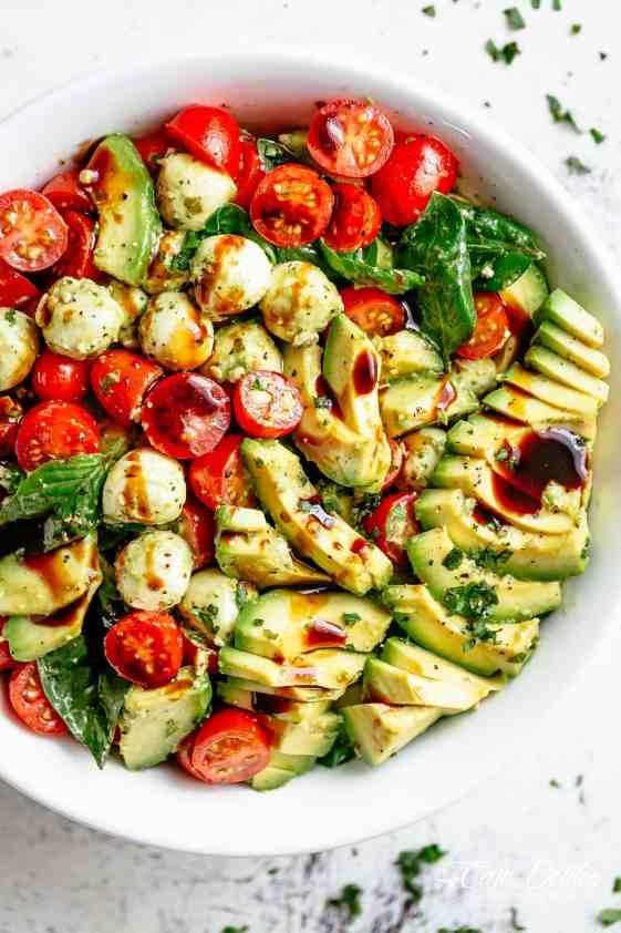 Image result for caprese salad avocado