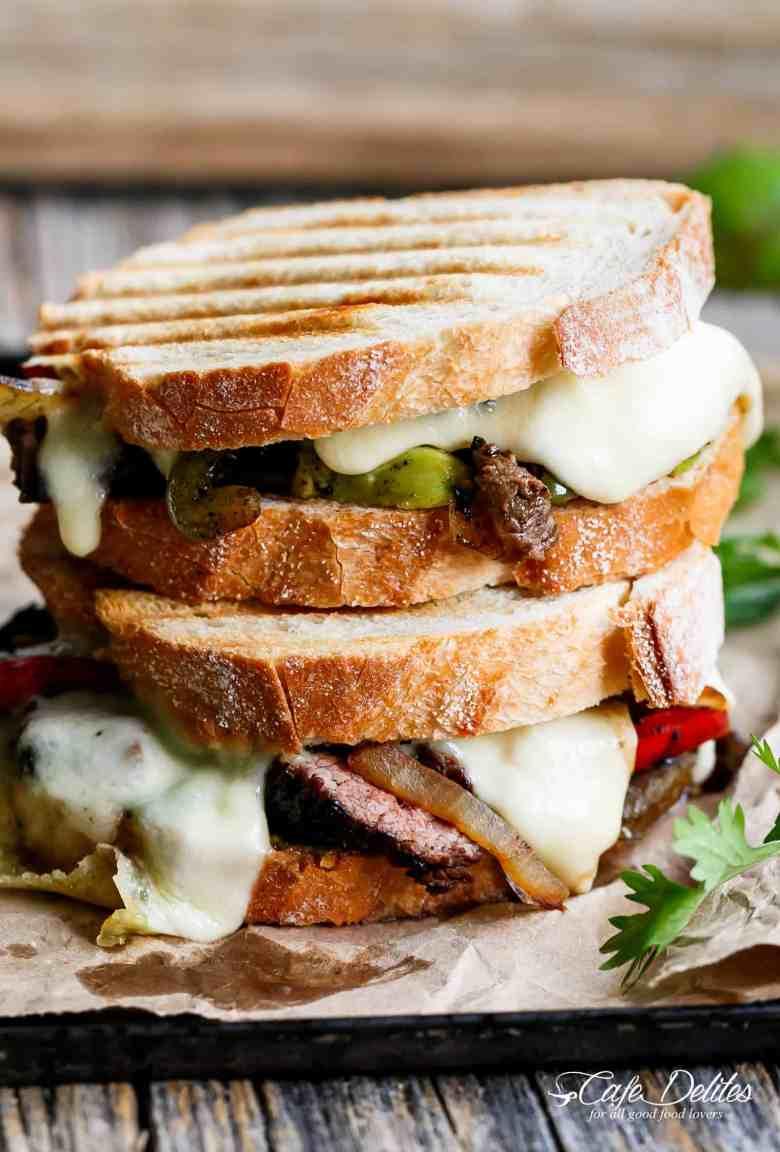 Steak Fajita Grilled Cheese