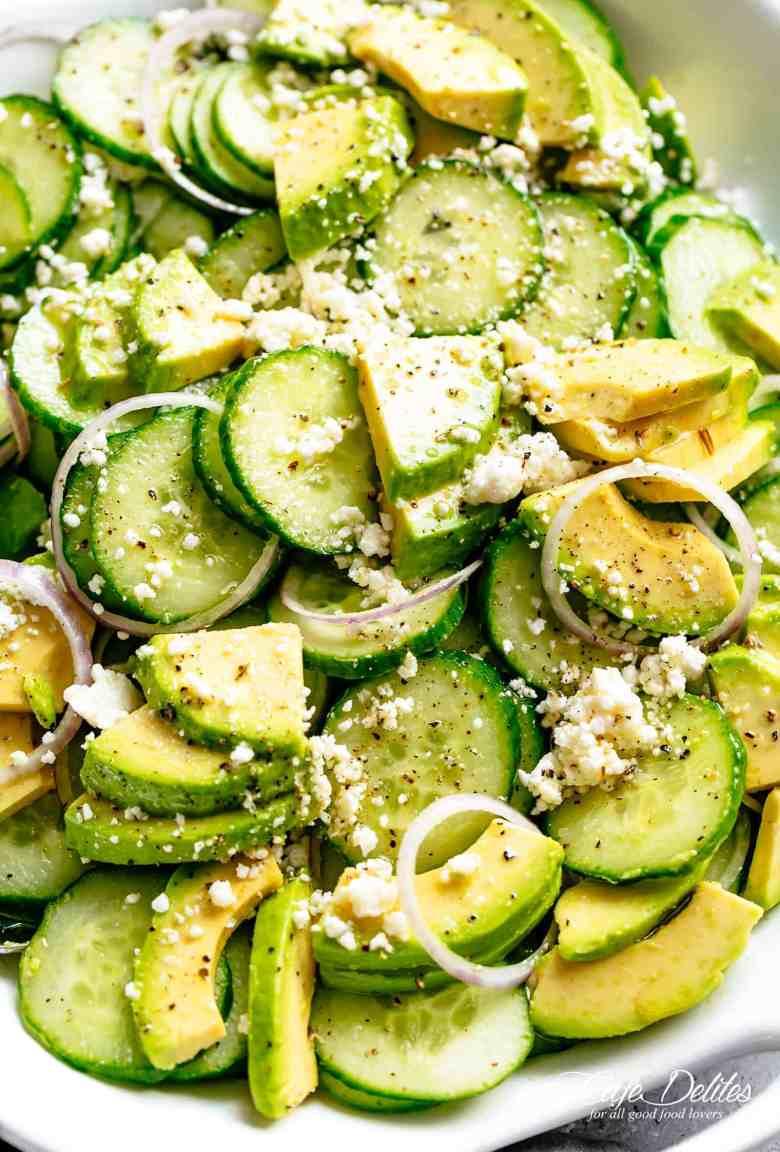 Avocado Feta Cucumber Salad