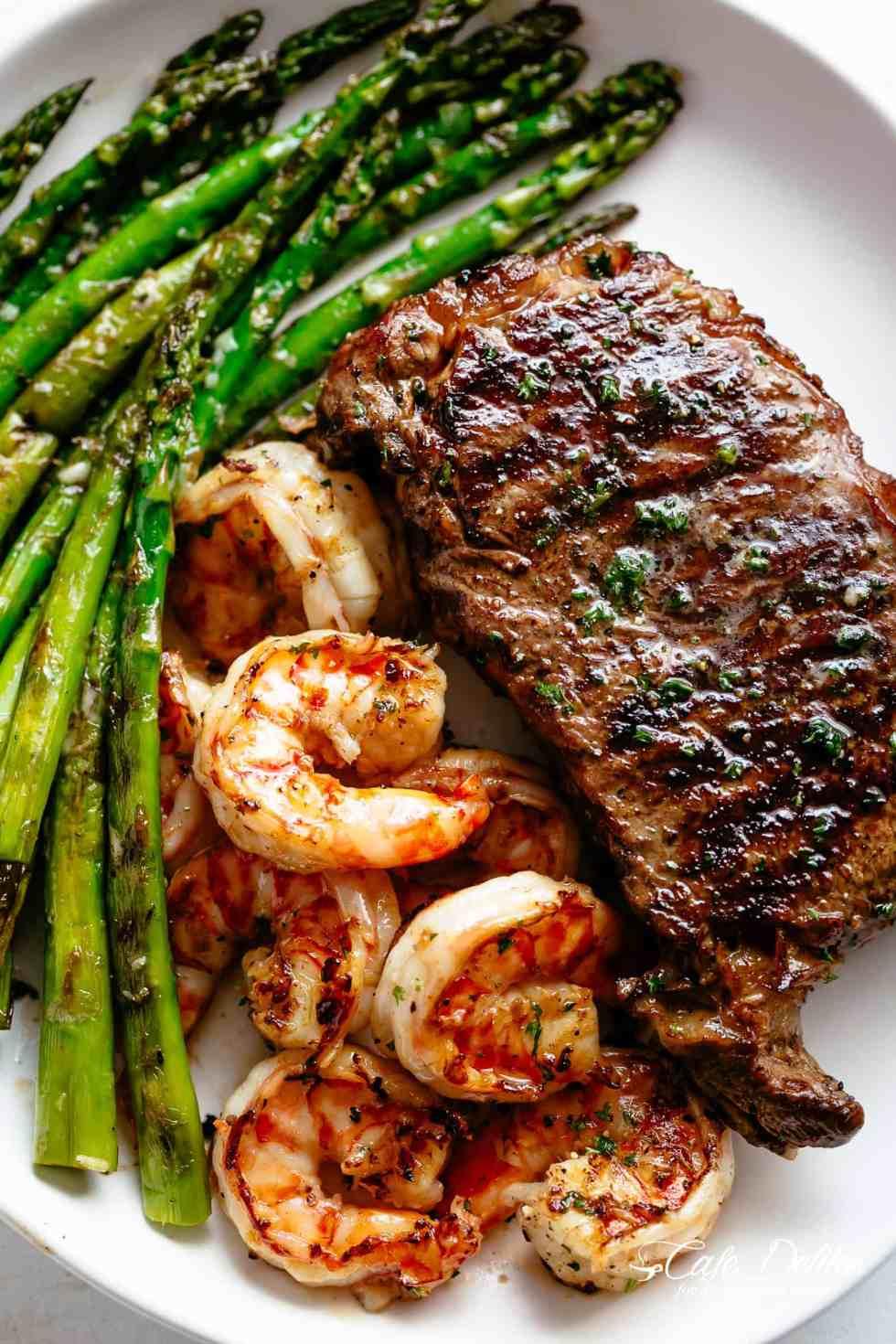 Grilled Steak & Shrimp | cafedelites.com