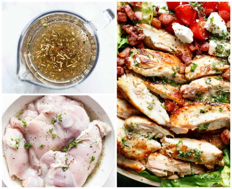Chicken Salad Recipe with avocado, bacon & feta! | cafedelites.com
