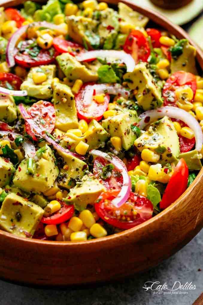 Avocado Tomato Corn Salad - Cafe Delites
