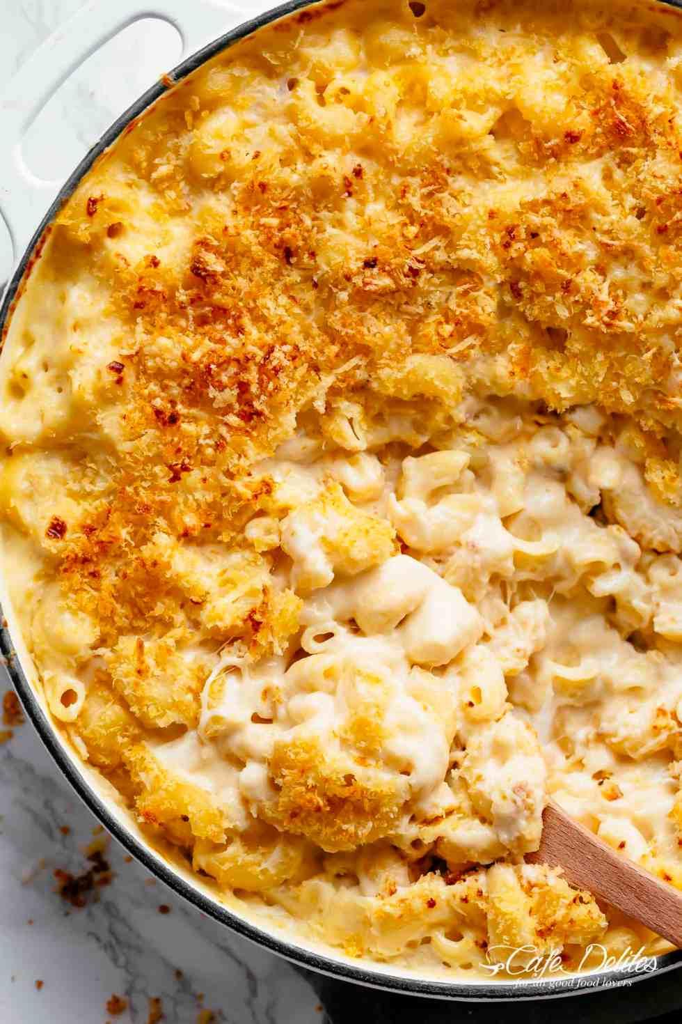 Garlic Parmesan Mac And Cheese - Cafe Delites