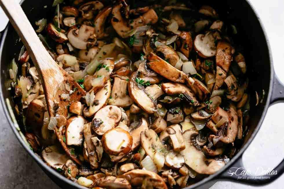 How to make cream of mushroom soup   cafedelites.com