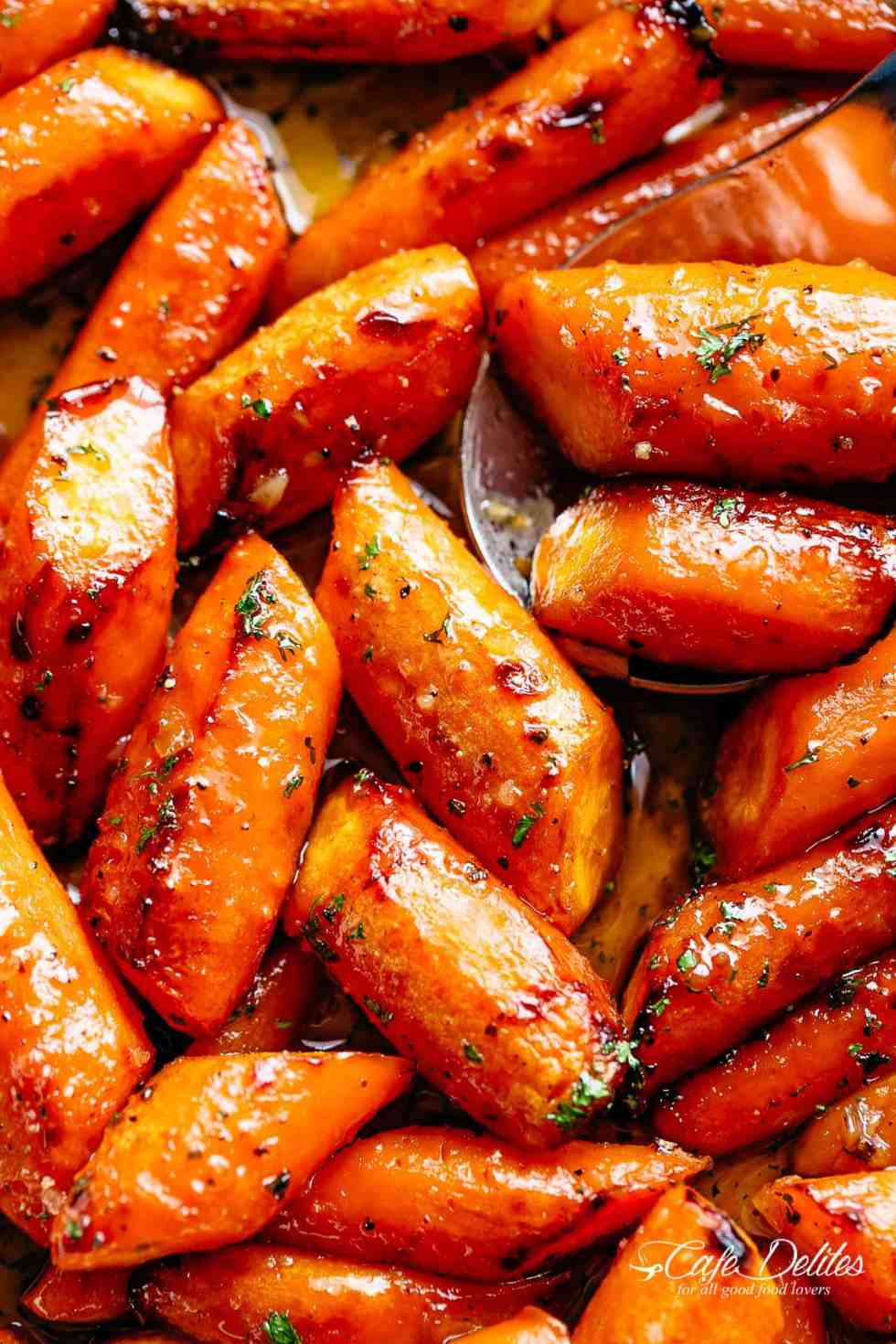 Roasted Carrots on a baking pan