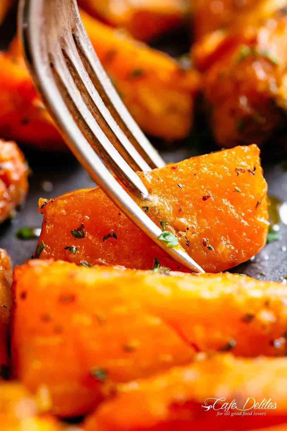 Easting Roasted Sweet Potatoes