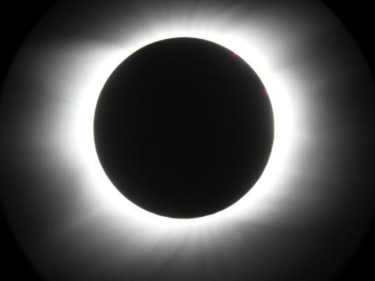 Eclipse solaire vue du ciel