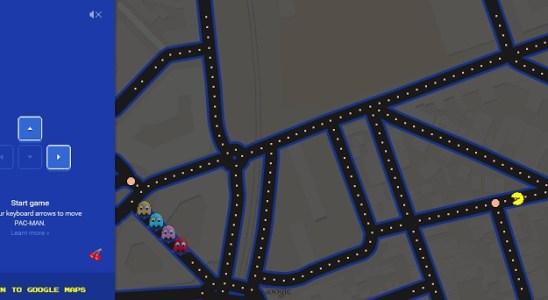 Pacman dans Google Maps