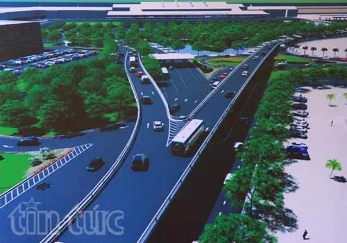 Phối cảnh dự án giao thông xây dựng cầu vượt tại nút giao đường Trường Sơn – đường Tân Sơn Nhất – Bình Lợi – Vành đai ngoài.