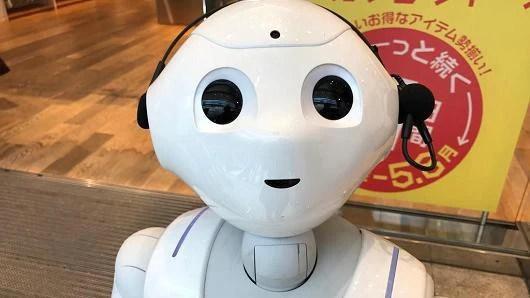 Robot Pepper có khả năng đọc các cảm xúc và tương tác với con người. (Ảnh: Internet)